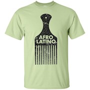 Afro Latino Hair Pick T Shirt Distressed Vintage Look – T-Shirt