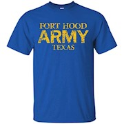 US Army Fort Hood Texas Faded Grunge T-Shirt