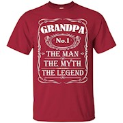 Mens Grandpa The Man The Myth The Legend Gift Father's Day shirt – T-Shirt