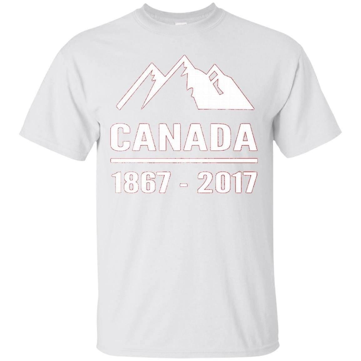 Canada 1867-2017 Flag T-Shirt Birthday Canada 150 Years Tee