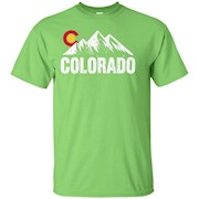 Distressed Colorado With Mountains Graphic T-shirt – T-Shirt