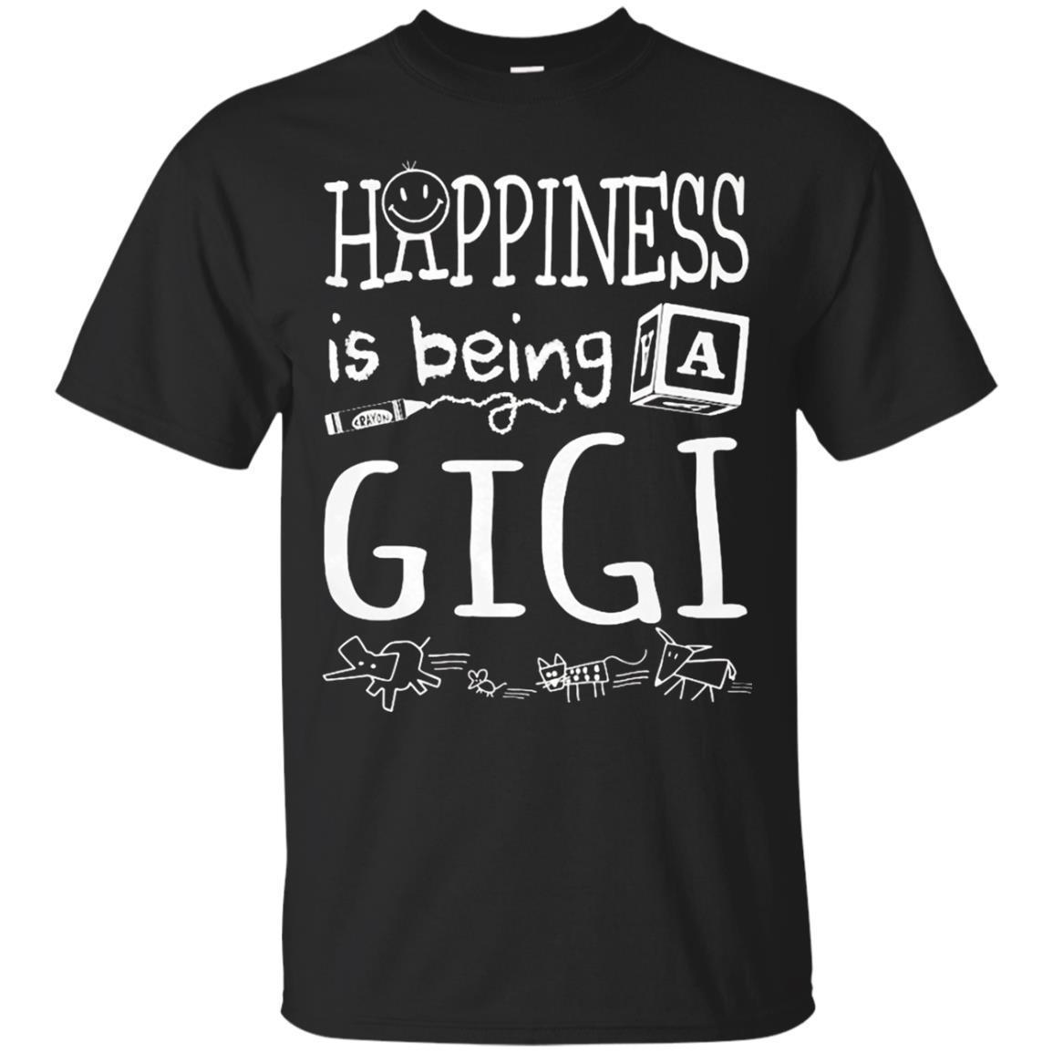 Happiness Is Being A Gigi T-Shirts Gift For Grandma Nana