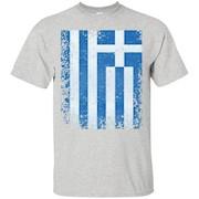Greece Flag T-Shirt Distressed Vintage Greek Flag T-Shirt