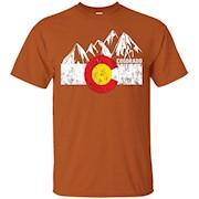 Colorado Flag Moutain Vintage T Shirt – Colorado Day Shirts – T-Shirt