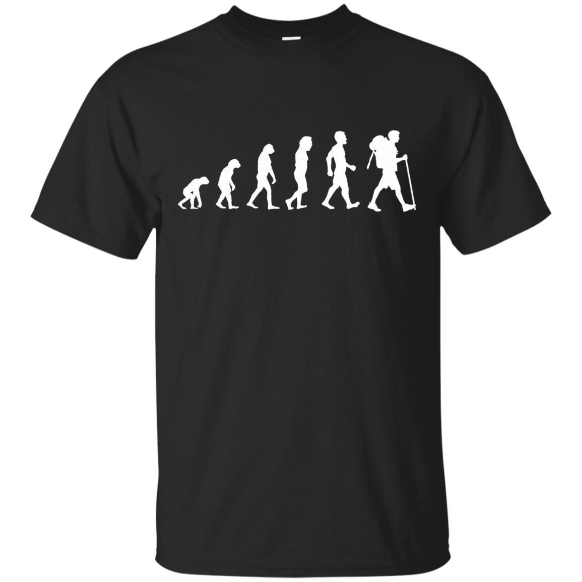 Evolution Of Hiker Funny Hiking Camping T Shirt Gift – T-Shirt