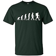 Evolution Of Hiker Funny Hiking Camping T Shirt Gift – T-Shirt