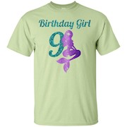 9th Birthday Girl Of Mermaid T-shirt 9 Years Old Mermaid – T-Shirt