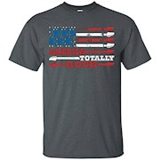 American Flag with Guitars, America Totally Rock T Shirt – T-Shirt