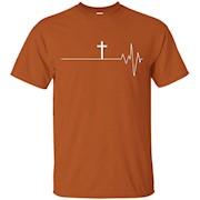 Cross Your Heart T-Shirt – Christian T-Shirt Heart Beat