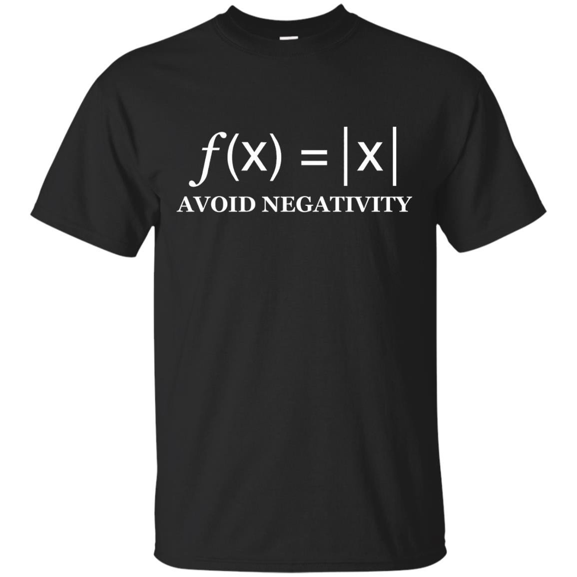 Avoid Negativity Funny Math formula Engineer T-Shirt