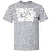 Distressed Iowa Home Shirt Iowa Shirt – T-Shirt