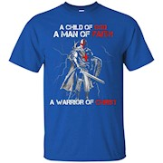 A child of God a woman of faith a warrior of Christ new tee – T-Shirt