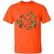 AfroWoke Kente Floral African Pattern T-Shirt