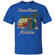 Cocoa Beach Florida FL Retro Surfing Distressed T-Shirt