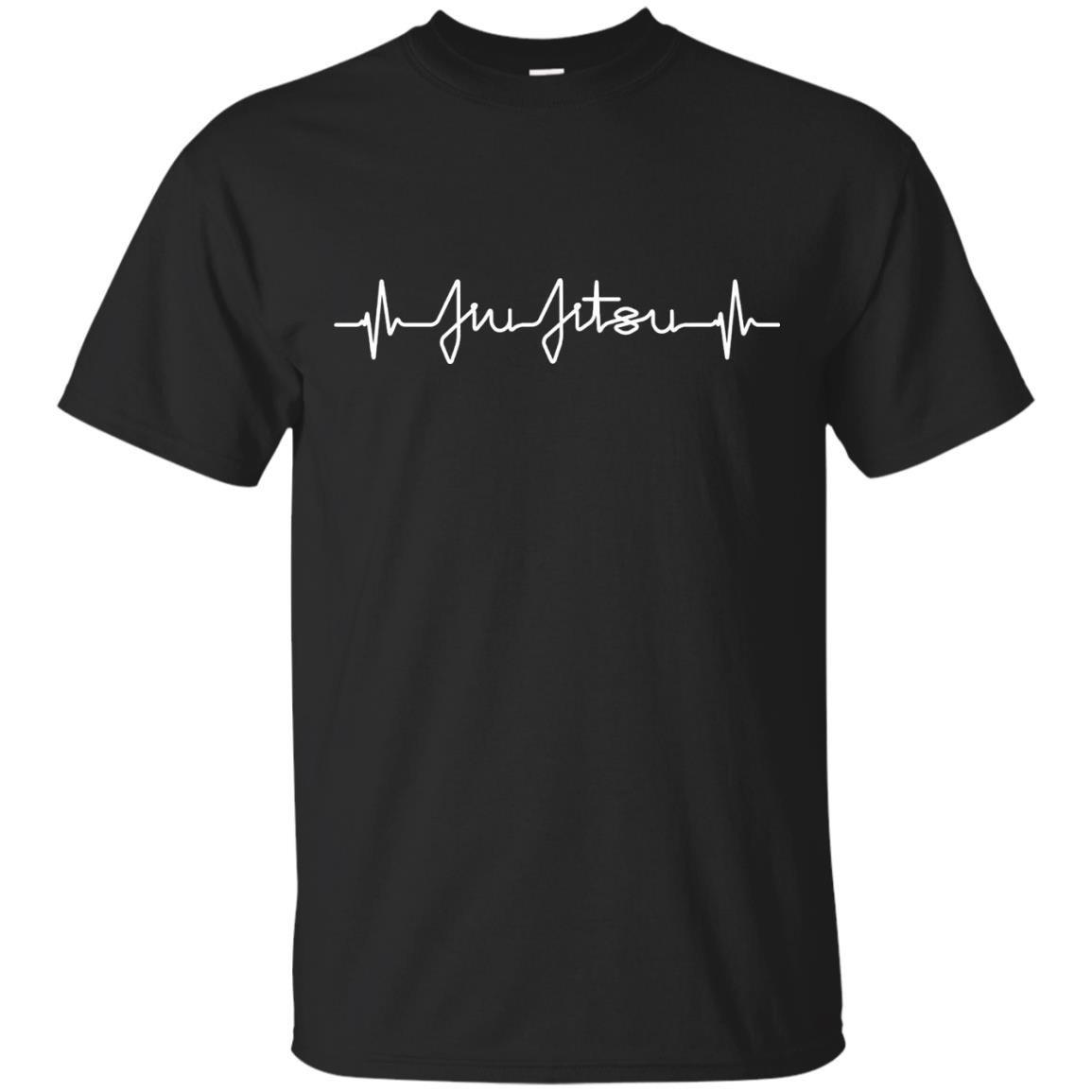 Brazilian Jiu Jitsu Heartbeat T Shirt MMA BJJ Pulse EKG Tee – T-Shirt