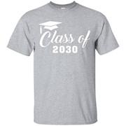 Class of 2030 Shirt, Kindergarten to Graduation Grow With Me – T-Shirt