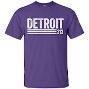 Detroit Vintage Men's Detroit 313 T-shirt – T-Shirt