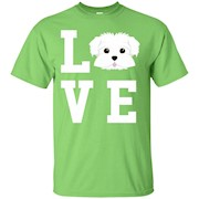 I Love My Dog Maltese Animal Lover T-Shirt