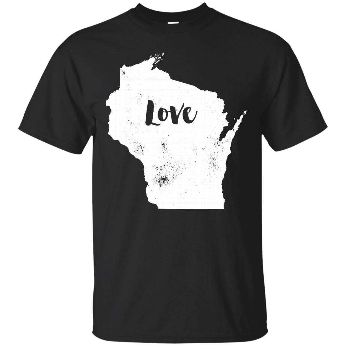 Love Shirt Wisconsin – Wisconsin Love State Shirt – T-Shirt