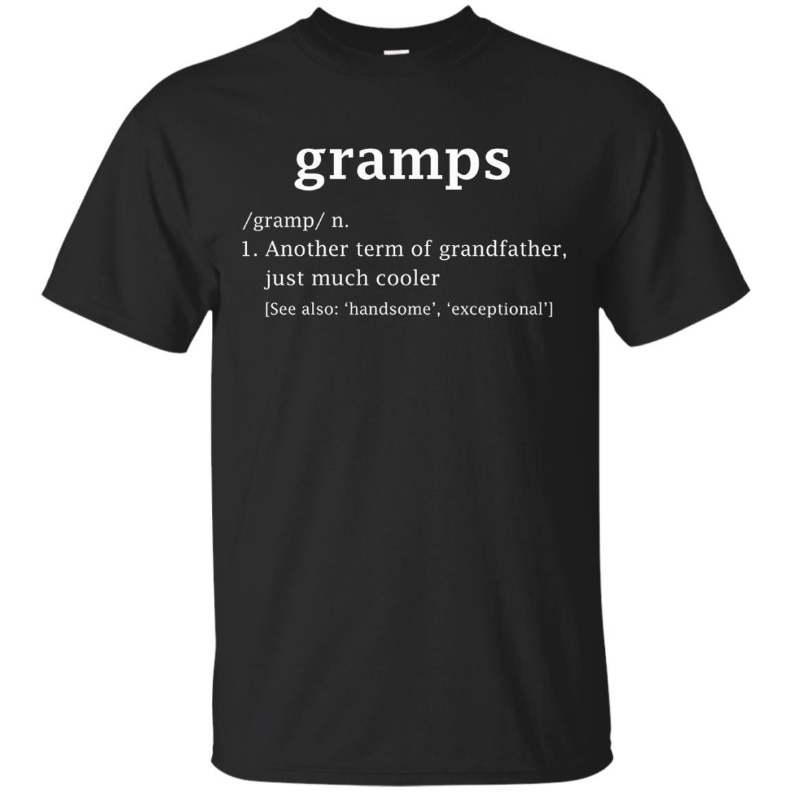Gramps Definition Funny Gift For Grandfather T-Shirt