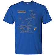 Grand Canyon National Park Trail Map T-Shirt Hiking Love Tee