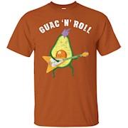 Guac 'N' Roll – Funny Avocado Rock Guitar T-Shirt