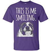 English Bulldog Funny T-Shirt This is Me Smiling