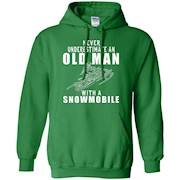 Never Underestimate An Old Man With A Snowmobile T Shirt