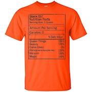 Black Girl Nutrition Facts Funny T Shirt – T-Shirt