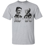 Men's TerraShirts Tesla and Edison AC DC Shirt – T-Shirt