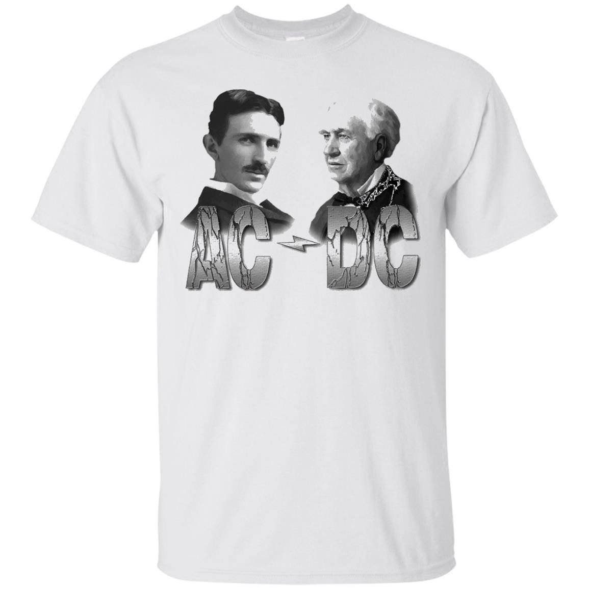 Men's TerraShirts Tesla and Edison AC DC Shirt – T-Shirt