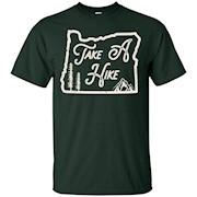 Pacific Northwest PNW Portland Oregon Take A Hike Hiking Tee – T-Shirt