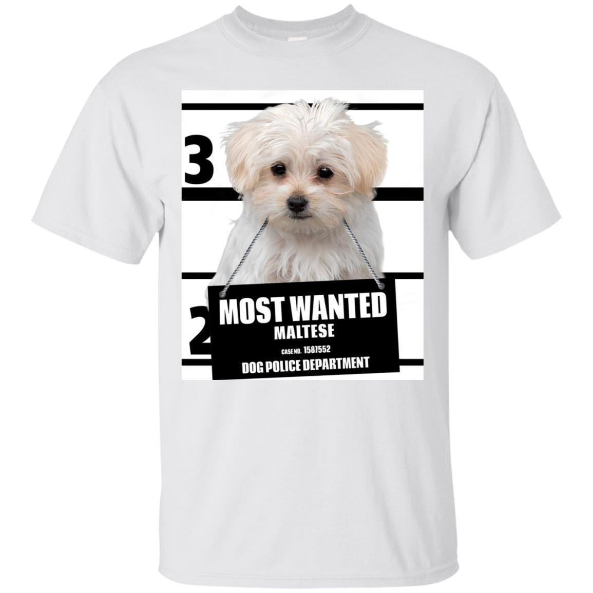 Most Wanted Maltese T-shirt – Dog Tee Shirts – 13