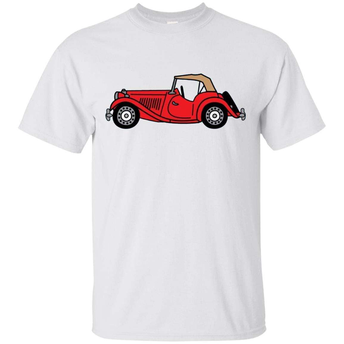 MGTD MG TD Red British Classic Sportscar T-shirt