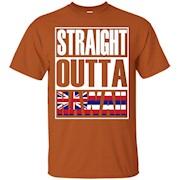 Straight Outta Hawaii Flag Gift T-Shirt