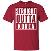 Straight Outta Korea Seoul Busan Korean Pride I Love Korea – T-Shirt