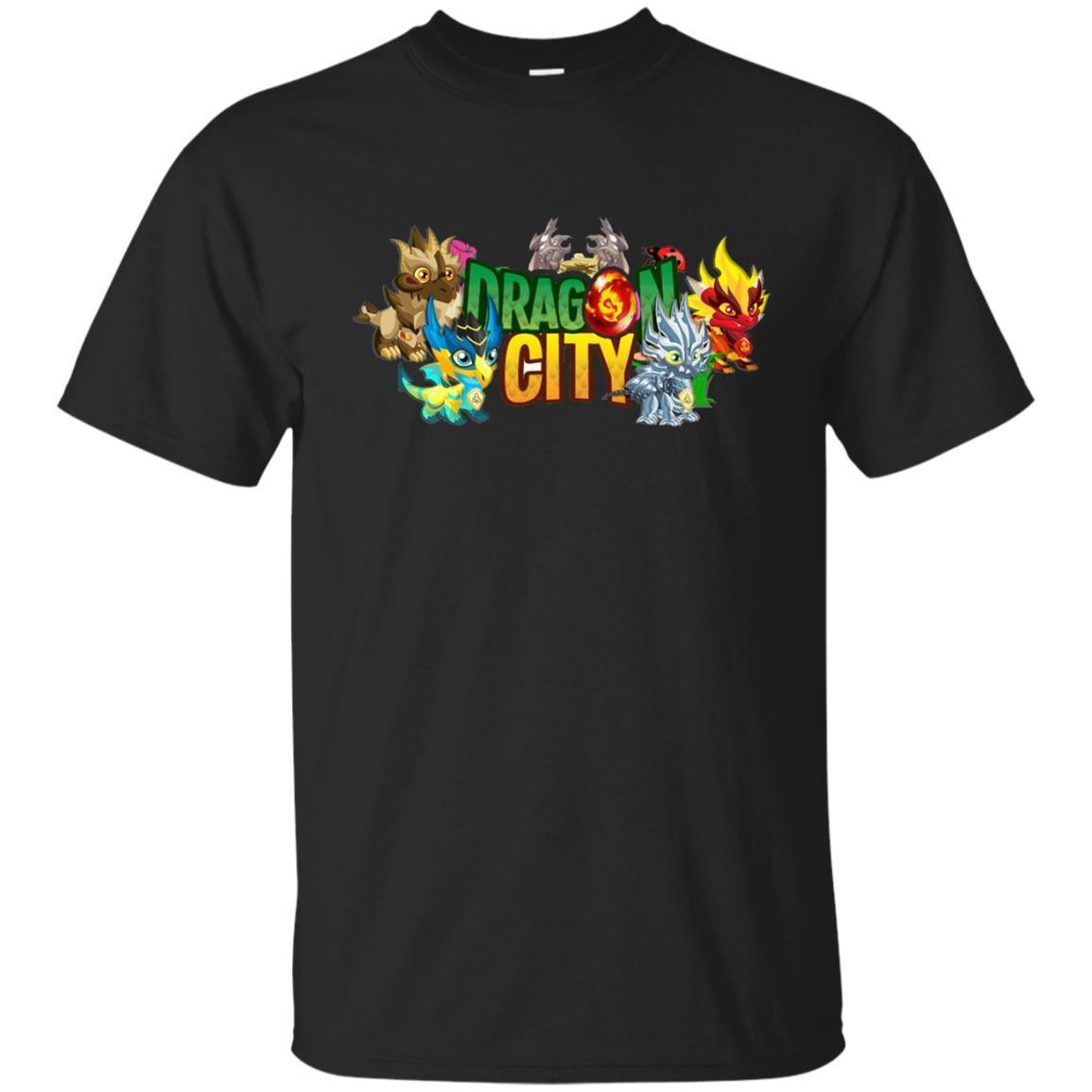 Dragon And City T Shirt