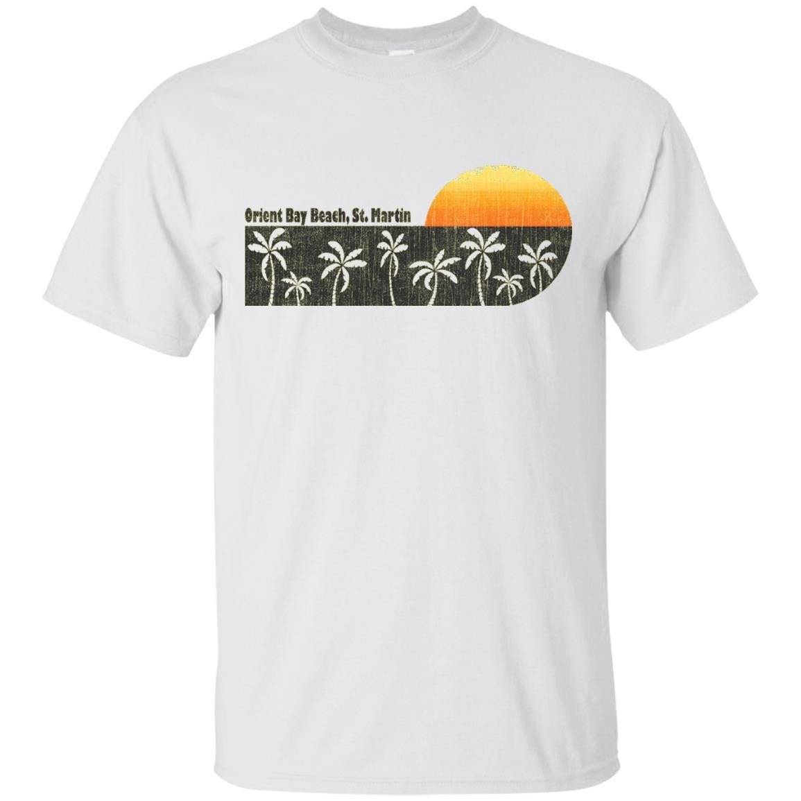 Retro Orient Bay Beach, St. Martin T-Shirt
