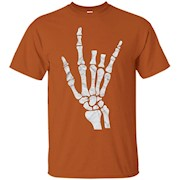 I Love You Sign Language Shirt with Skeleton Hand – T-Shirt