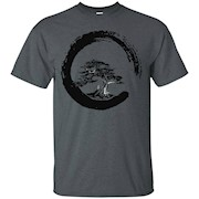 Japanese Bonsai Tree in Enso Circle Shirt – T-Shirt