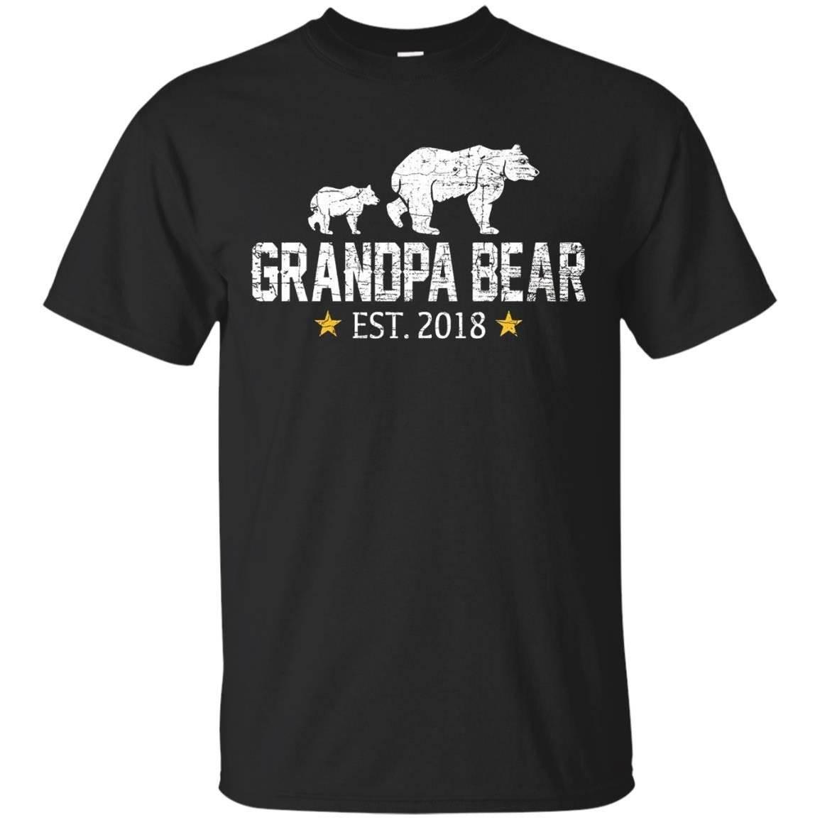 Mens Grandpa Bear 2018 Shirt – T-Shirt