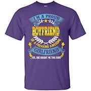 Proud Boyfriend of a freaking awesome Girlfriend shirt – T-Shirt