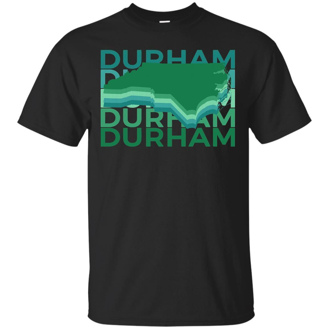 Durham North Carolina T Shirt Vintage Repeat – T-Shirt