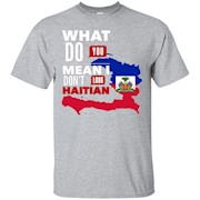 Haitian Shirts For Men Fashion Map of Haiti Red White Blue – T-Shirt