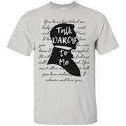 TALK DARCY TO ME, Funny Bookworm t shirt, Jane Austen Gifts – T-Shirt
