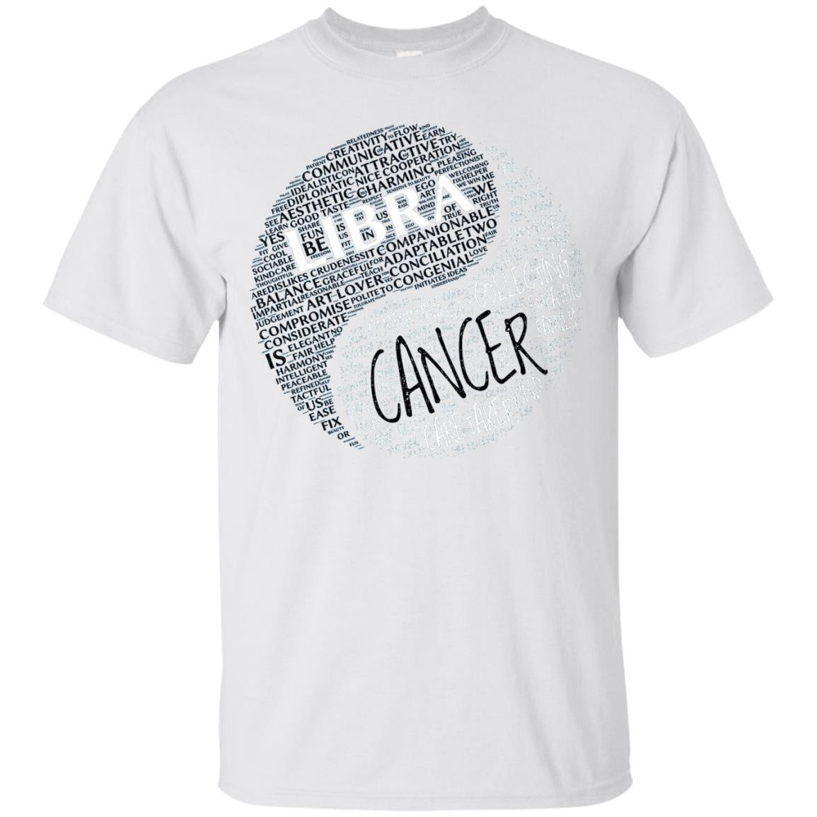 Zodiac Facts Shirt for Men & Women Libra and Cancer T-shirt – T-Shirt