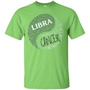 Zodiac Facts Shirt for Men & Women Libra and Cancer T-shirt – T-Shirt