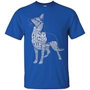 I love German Shepherd T-Shirt – German Shepherd Colors