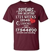 33rd Wedding Anniversary T-Shirt – 33 Years Vintage Gift