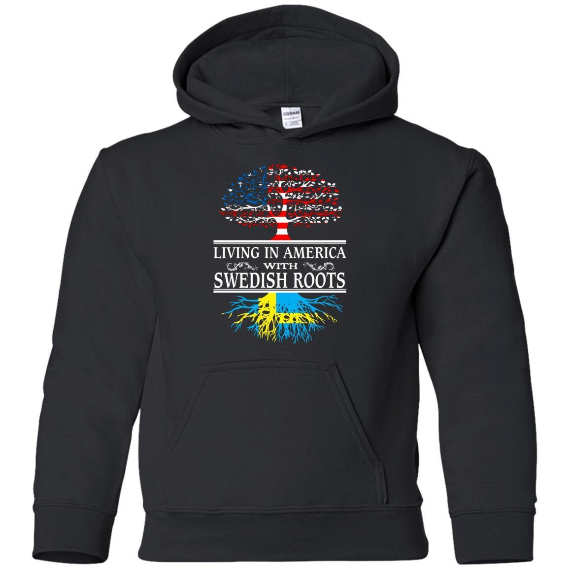 Living In America Swedish Roots – Sweden Flag Shirt